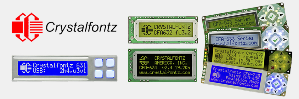 Crystalfontz Intelligent Display Modules